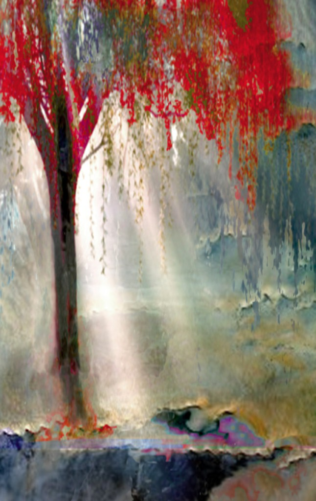 Los Angeles Contemporary Art titled Red Tree 1 by Artist Todd Krasovetz