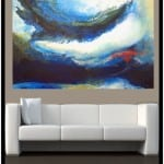 "Contemporary Art titled ""Underwater Storm"" by Artist Todd Krasovetz"