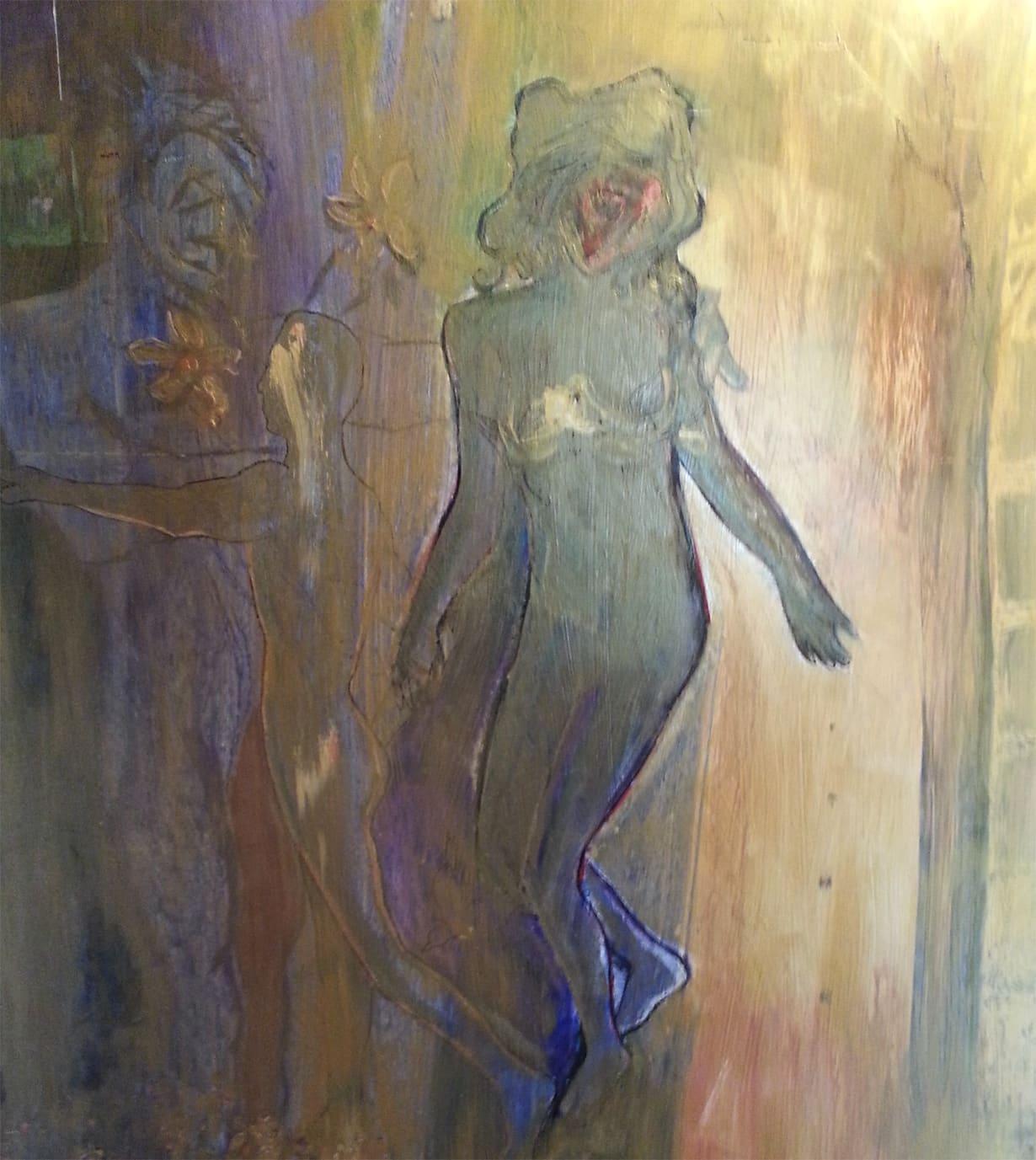 Contemporary Art Oil on Canvas Titled The Seeding Artist Todd Krasovetz 4 x 4 feet Price 5400